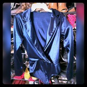One piece body blazer top
